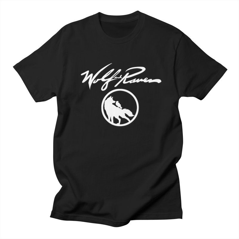 Wolf and Raven Cursive Men's T-Shirt by Wolf and Raven Artist Shop