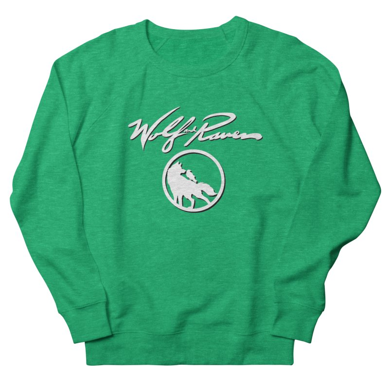 Wolf and Raven Cursive Women's Sweatshirt by Wolf and Raven Artist Shop