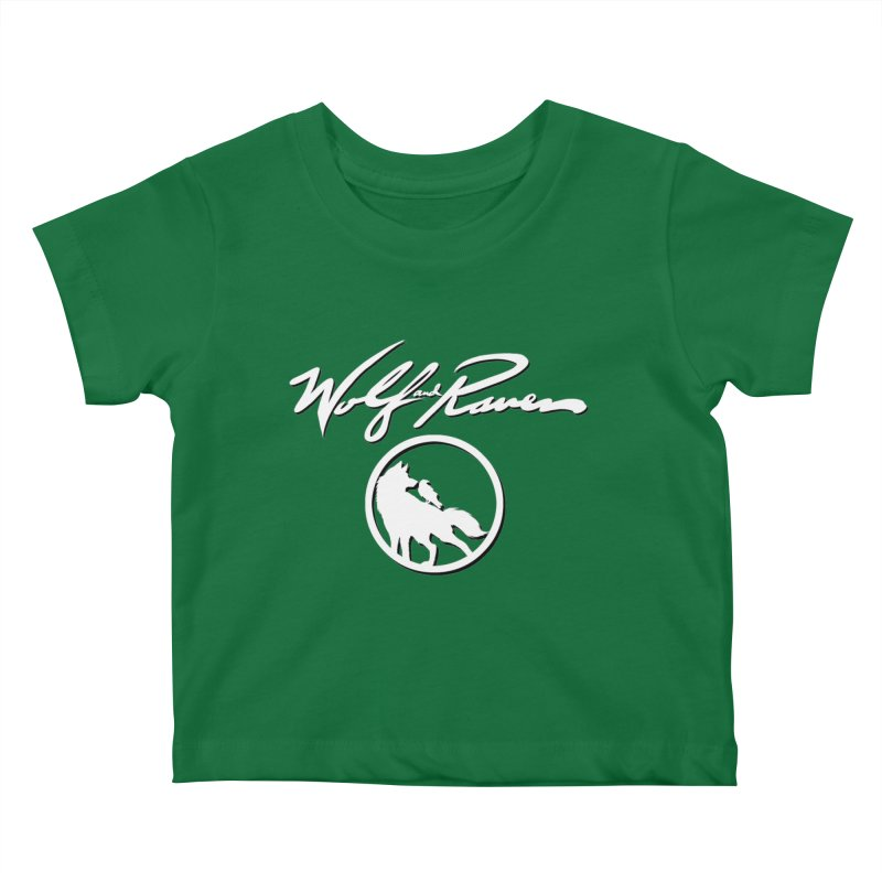 Wolf and Raven Cursive Kids Baby T-Shirt by Wolf and Raven Artist Shop