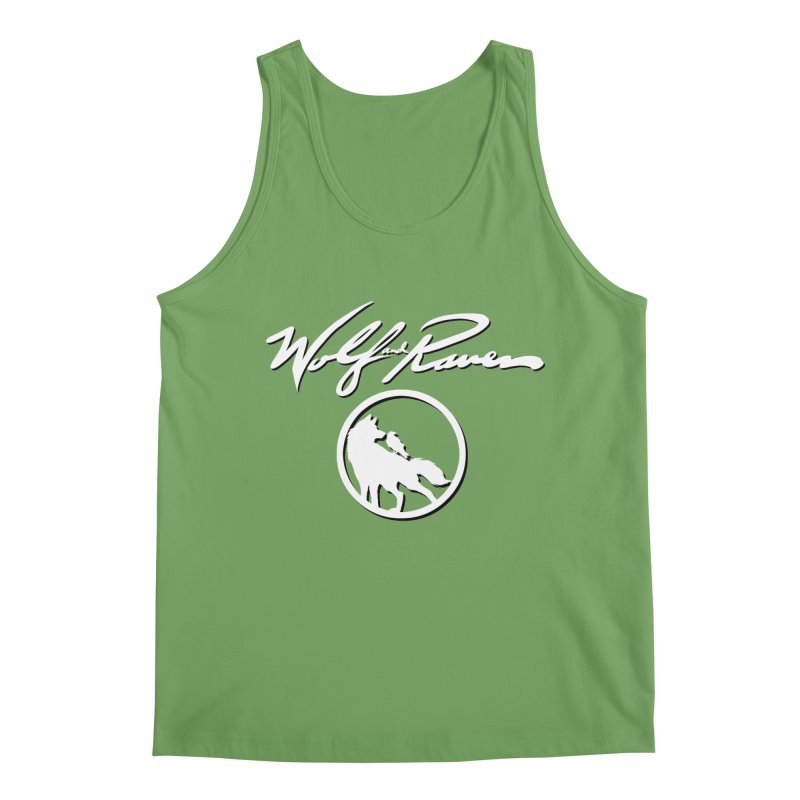 Wolf and Raven Cursive Men's Tank by Wolf and Raven Artist Shop