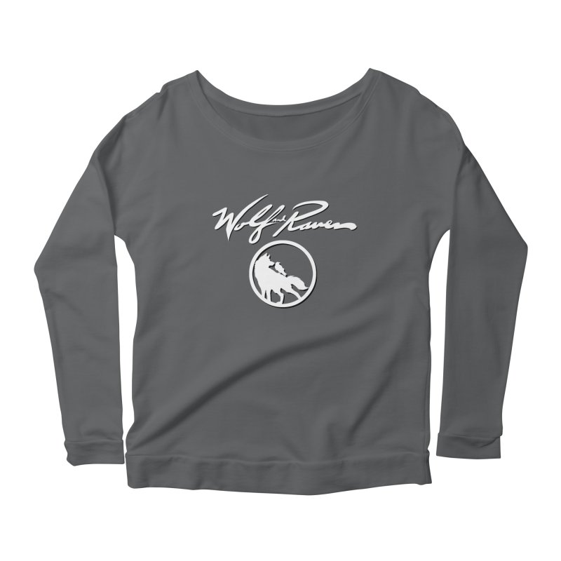 Wolf and Raven Cursive Women's Longsleeve T-Shirt by Wolf and Raven Artist Shop