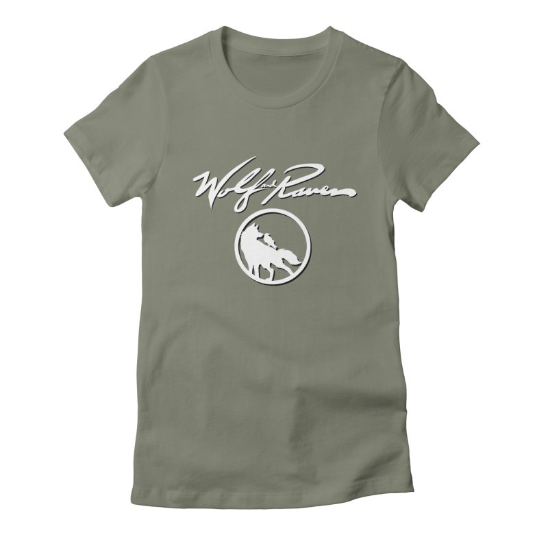Wolf and Raven Cursive Women's T-Shirt by Wolf and Raven Artist Shop