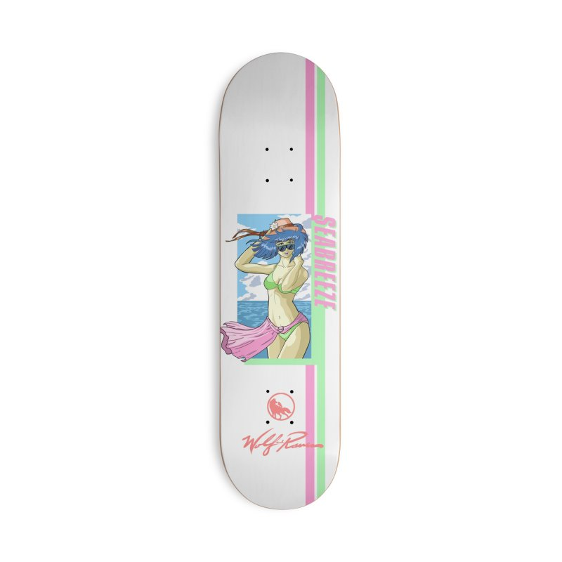 SeaBreeze Anime Babe Accessories Skateboard by Wolf and Raven Artist Shop