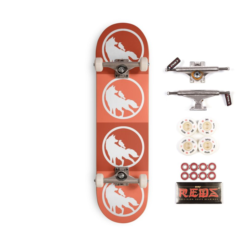 Wolf and Raven Pattern Accessories Skateboard by Wolf and Raven Artist Shop