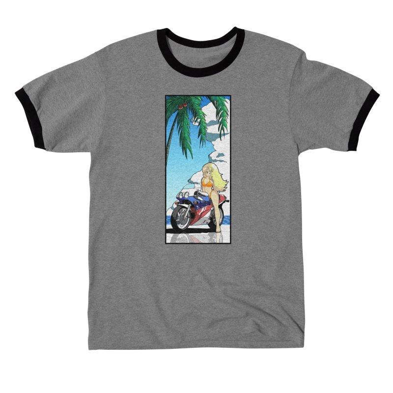 Motogirl Men's T-Shirt by Wolf and Raven Artist Shop
