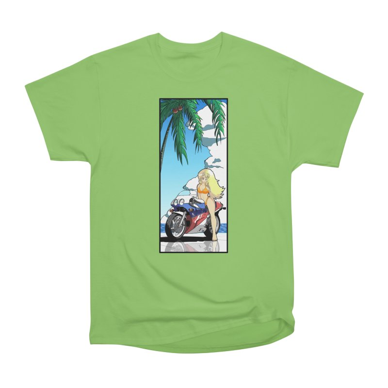Motogirl Men's T-Shirt by Wolf and Raven Artist Shop