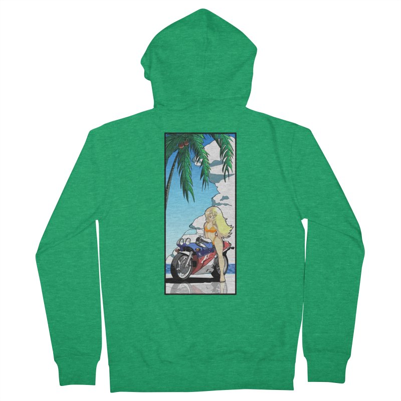 Motogirl Women's Zip-Up Hoody by Wolf and Raven Artist Shop