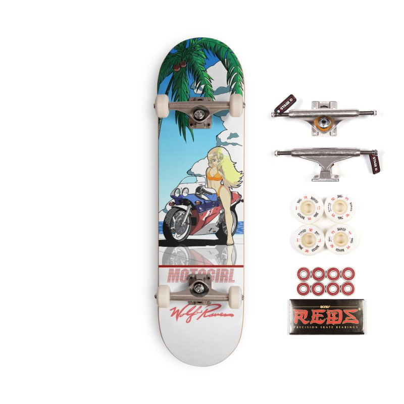 Motogirl Accessories Skateboard by Wolf and Raven Artist Shop