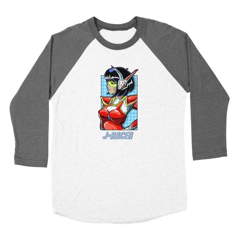 J Racer Women's Longsleeve T-Shirt by Wolf and Raven Artist Shop