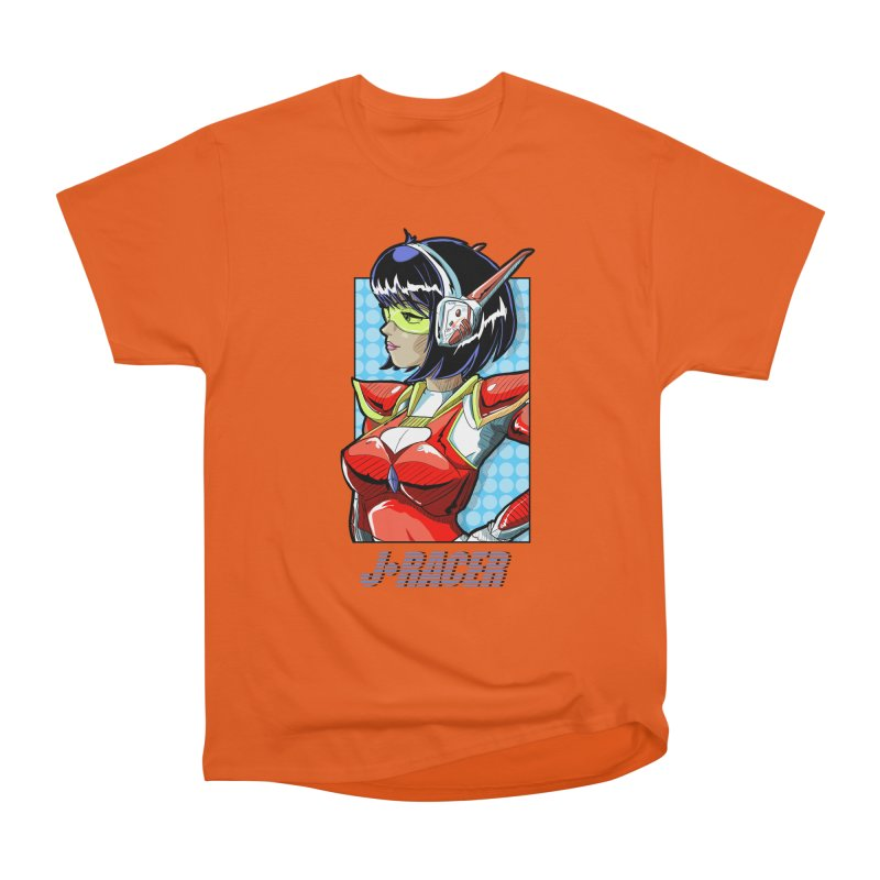 J Racer Men's T-Shirt by Wolf and Raven Artist Shop