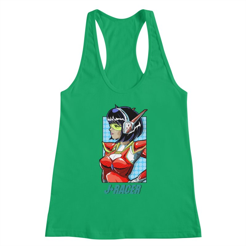 J Racer Women's Tank by Wolf and Raven Artist Shop