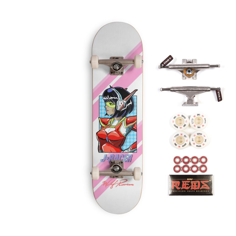 J Racer Accessories Skateboard by Wolf and Raven Artist Shop