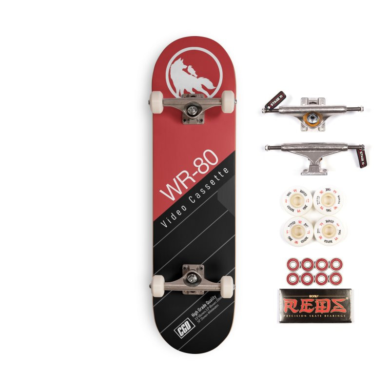 Wolf and Raven 80 VHS Accessories Skateboard by Wolf and Raven Artist Shop