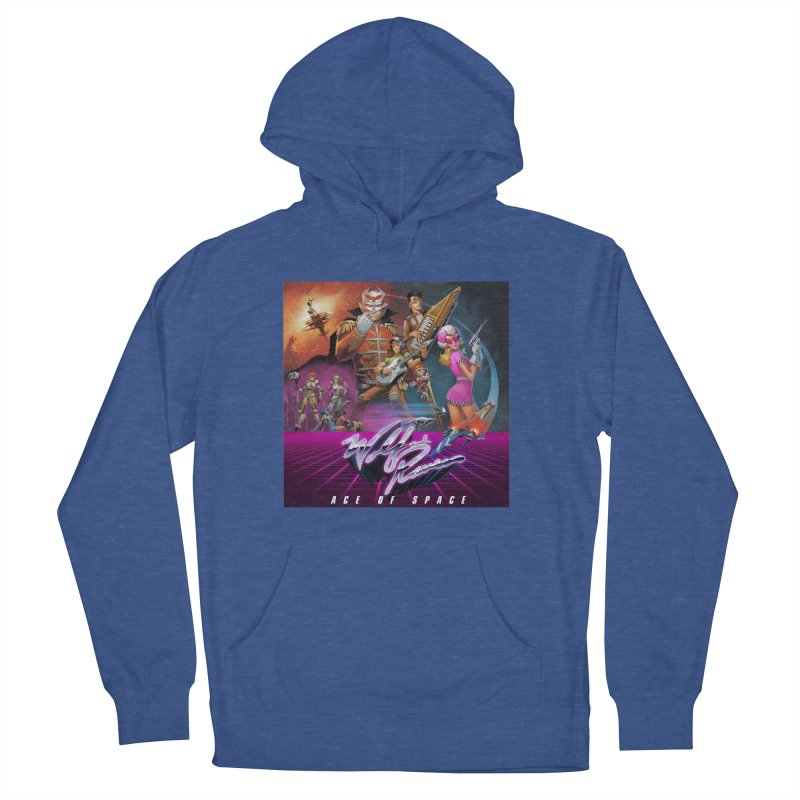 Wolf and Raven Ace of Space Album Art Men's French Terry Pullover Hoody by Wolf and Raven Artist Shop