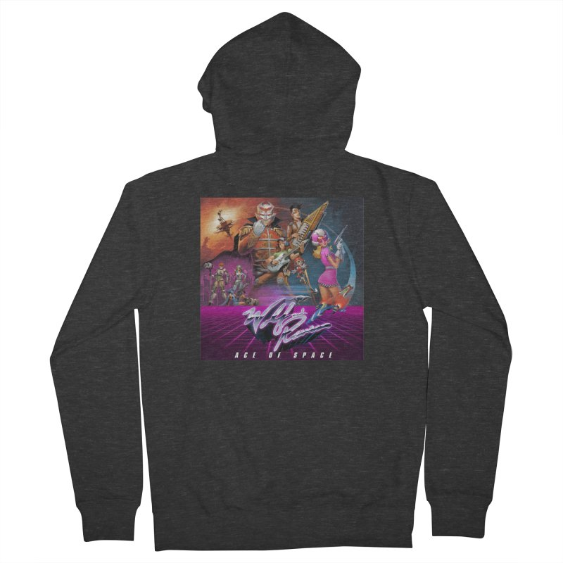 Wolf and Raven Ace of Space Album Art Women's French Terry Zip-Up Hoody by Wolf and Raven Artist Shop