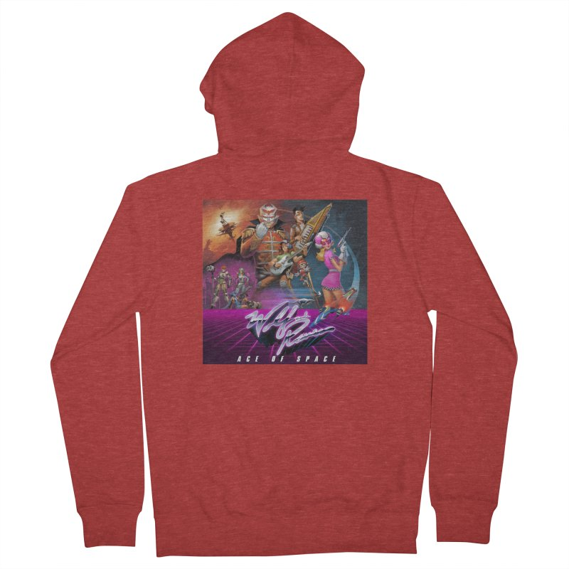 Wolf and Raven Ace of Space Album Art Men's French Terry Zip-Up Hoody by Wolf and Raven Artist Shop