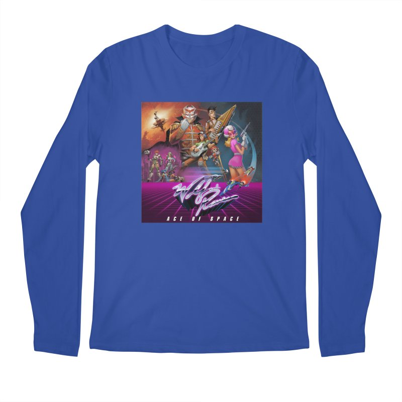Wolf and Raven Ace of Space Album Art Men's Regular Longsleeve T-Shirt by Wolf and Raven Artist Shop