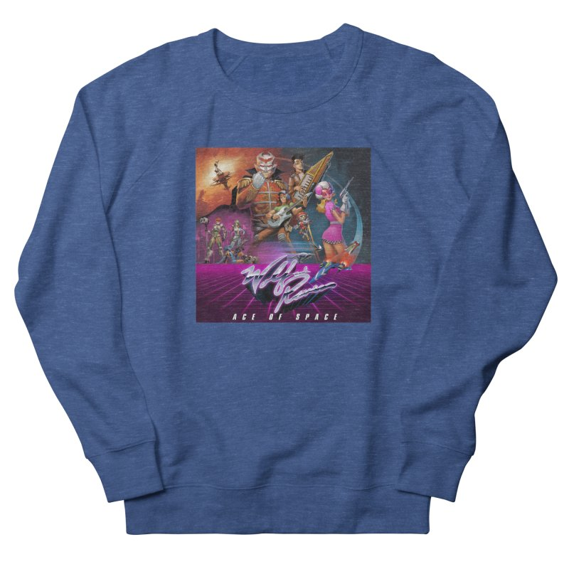 Wolf and Raven Ace of Space Album Art Men's French Terry Sweatshirt by Wolf and Raven Artist Shop