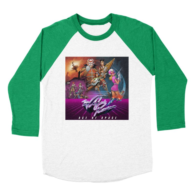 Wolf and Raven Ace of Space Album Art Women's Baseball Triblend Longsleeve T-Shirt by Wolf and Raven Artist Shop