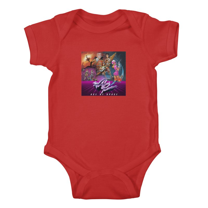 Wolf and Raven Ace of Space Album Art Kids Baby Bodysuit by Wolf and Raven Artist Shop