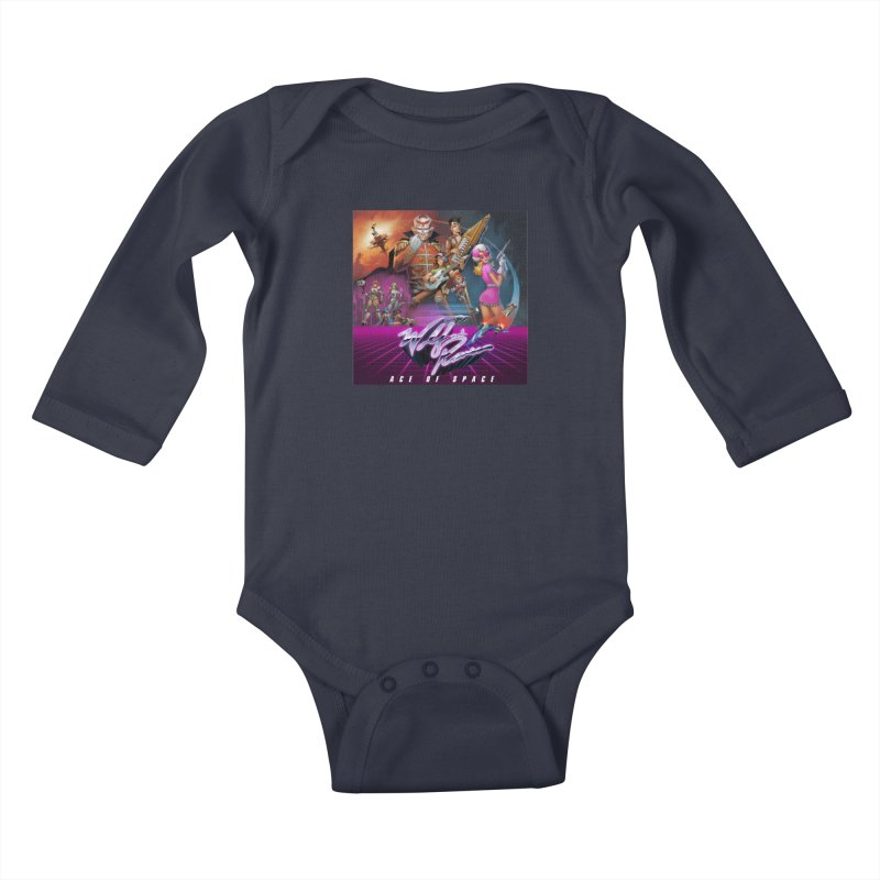 Wolf and Raven Ace of Space Album Art Kids Baby Longsleeve Bodysuit by Wolf and Raven Artist Shop