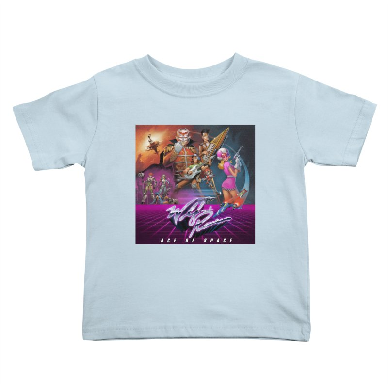Wolf and Raven Ace of Space Album Art Kids Toddler T-Shirt by Wolf and Raven Artist Shop
