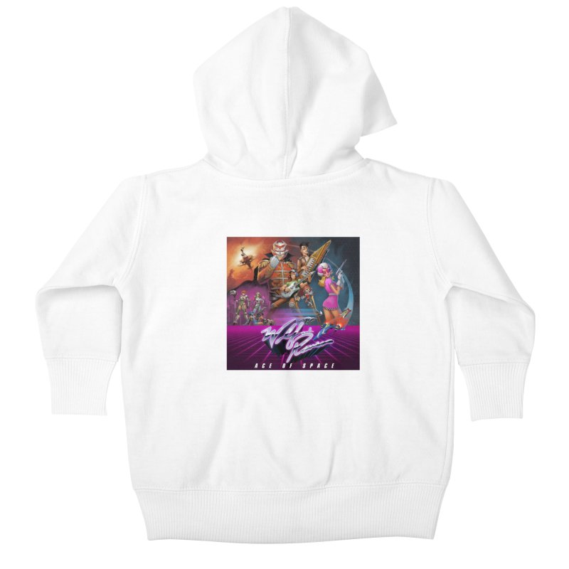 Wolf and Raven Ace of Space Album Art Kids Baby Zip-Up Hoody by Wolf and Raven Artist Shop