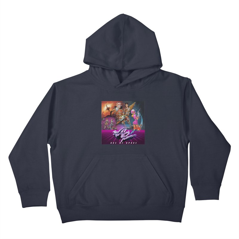 Wolf and Raven Ace of Space Album Art Kids Pullover Hoody by Wolf and Raven Artist Shop