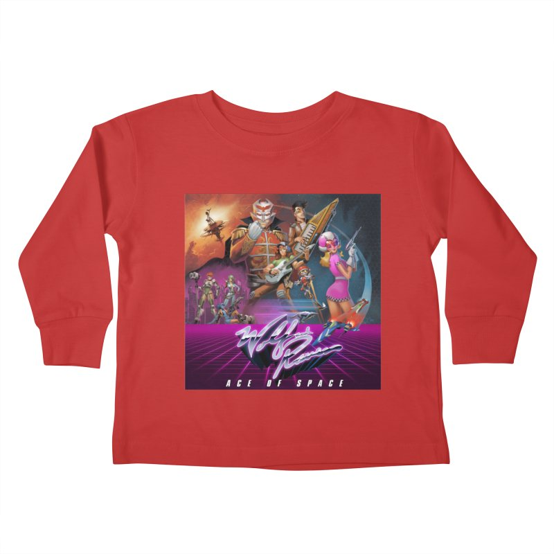 Wolf and Raven Ace of Space Album Art Kids Toddler Longsleeve T-Shirt by Wolf and Raven Artist Shop