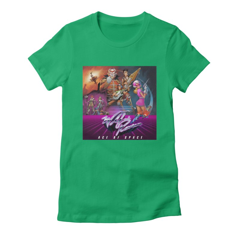 Wolf and Raven Ace of Space Album Art Women's Fitted T-Shirt by Wolf and Raven Artist Shop