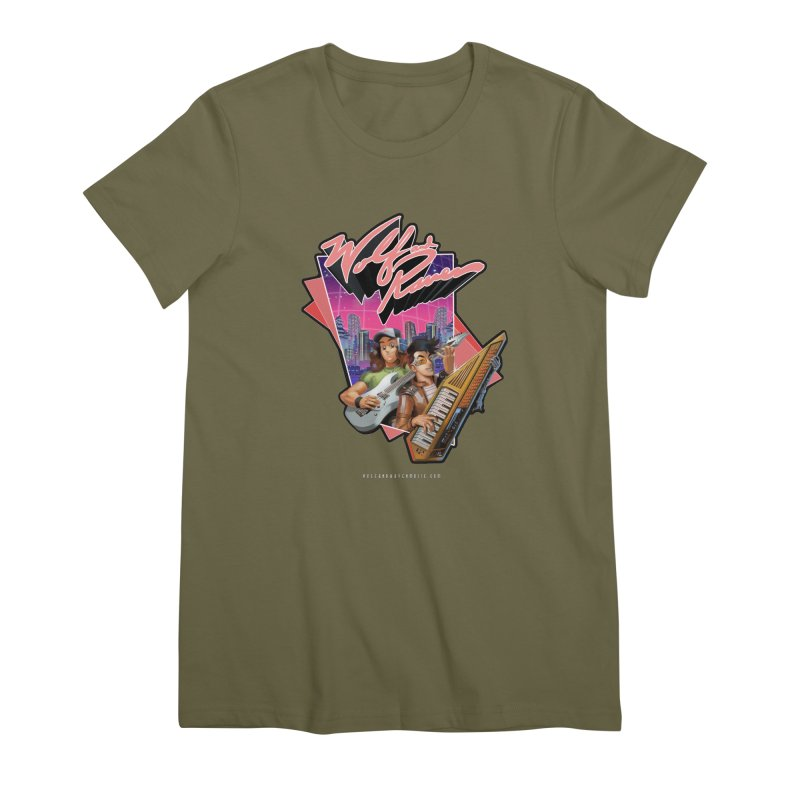 Wolf and Raven 80s Cartoon Women's Premium T-Shirt by Wolf and Raven Artist Shop