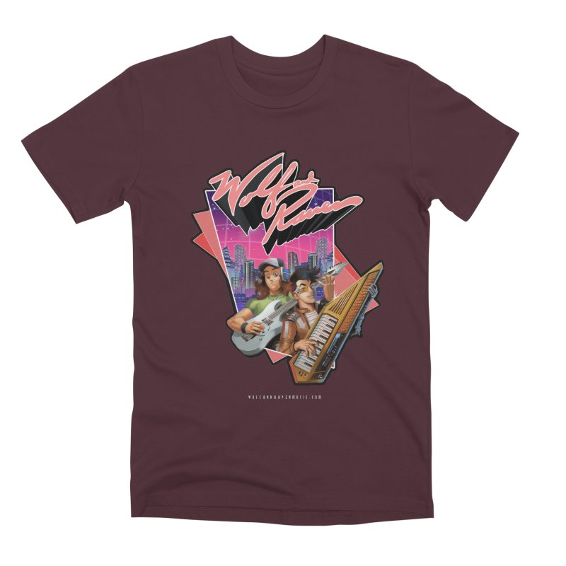 Wolf and Raven 80s Cartoon Men's Premium T-Shirt by Wolf and Raven Artist Shop