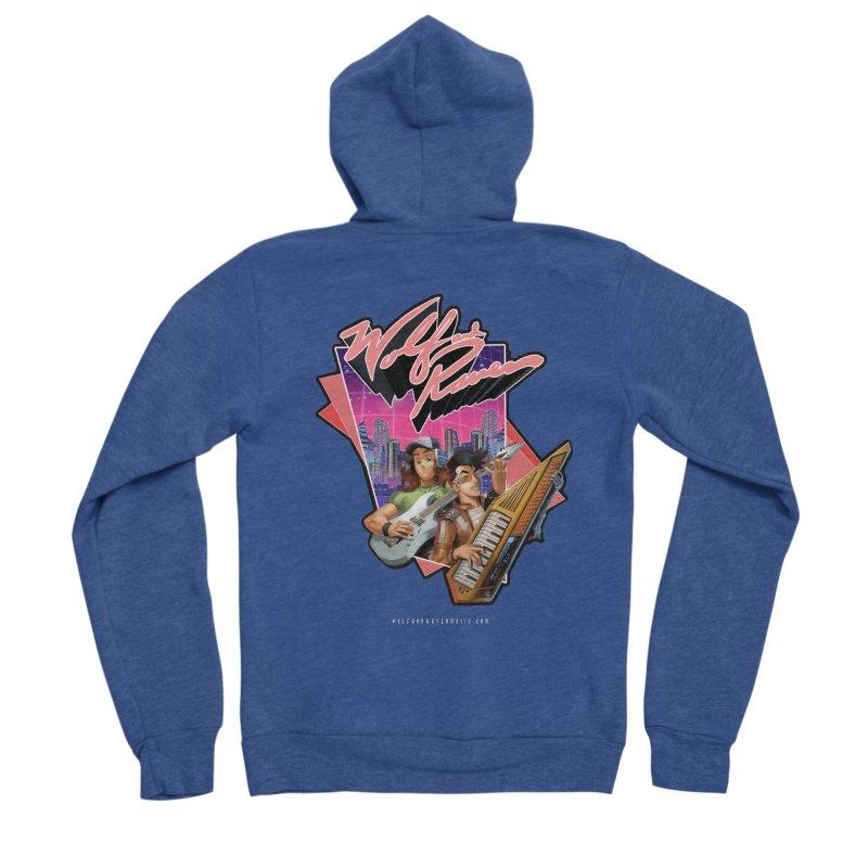 Wolf and Raven 80s Cartoon Men's Sponge Fleece Zip-Up Hoody by Wolf and Raven Artist Shop