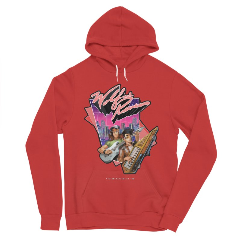 Wolf and Raven 80s Cartoon Women's Sponge Fleece Pullover Hoody by Wolf and Raven Artist Shop