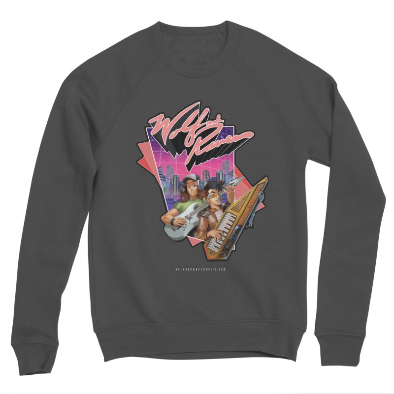 Wolf and Raven 80s Cartoon Men's Sponge Fleece Sweatshirt by Wolf and Raven Artist Shop