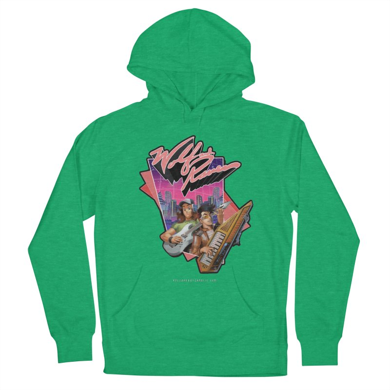 Wolf and Raven 80s Cartoon Women's French Terry Pullover Hoody by Wolf and Raven Artist Shop
