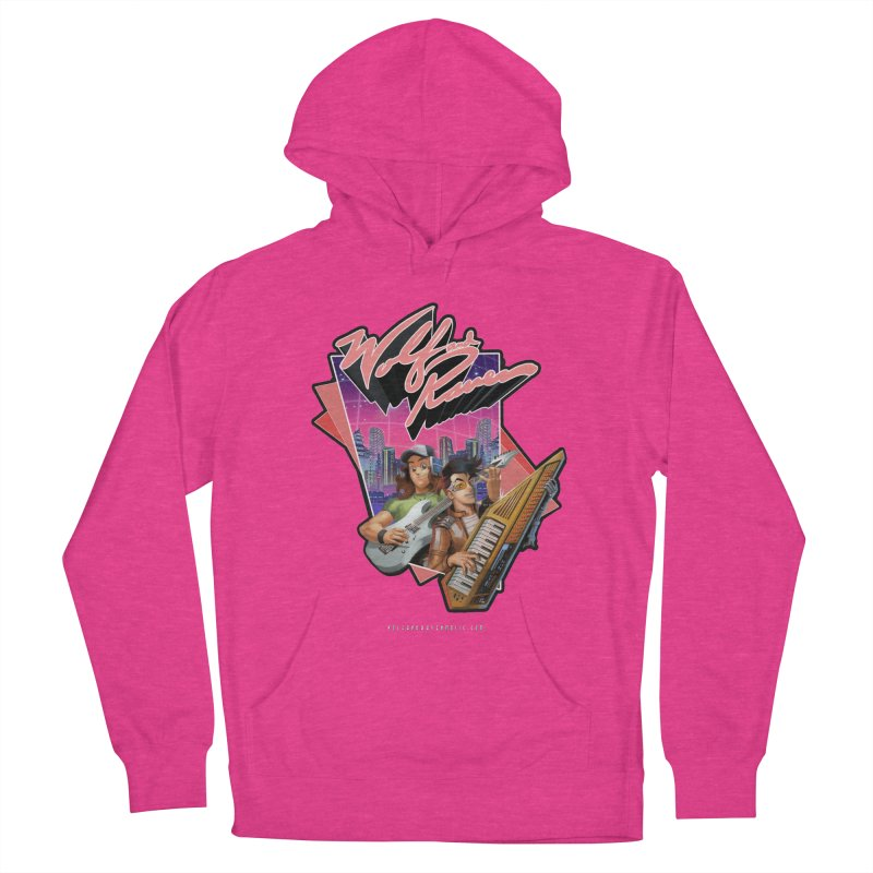 Wolf and Raven 80s Cartoon Men's French Terry Pullover Hoody by Wolf and Raven Artist Shop