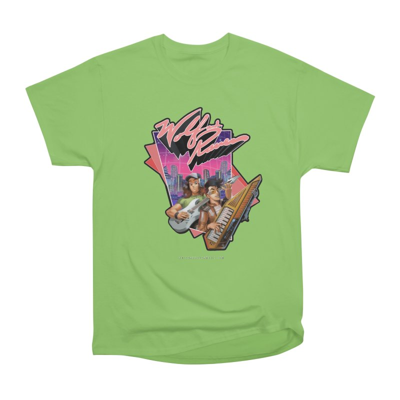 Wolf and Raven 80s Cartoon Women's Heavyweight Unisex T-Shirt by Wolf and Raven Artist Shop