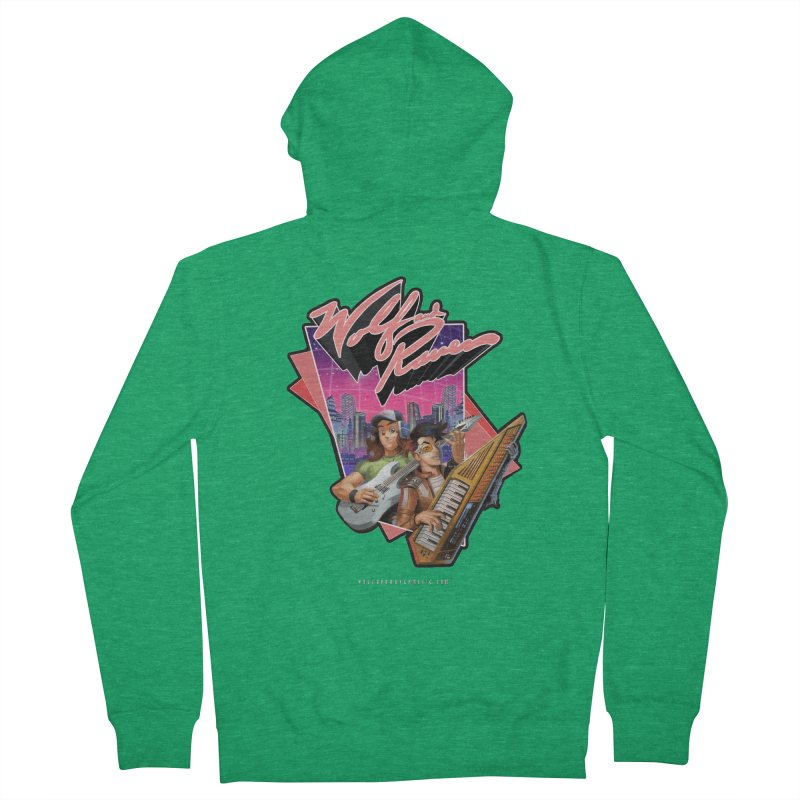 Wolf and Raven 80s Cartoon Men's French Terry Zip-Up Hoody by Wolf and Raven Artist Shop