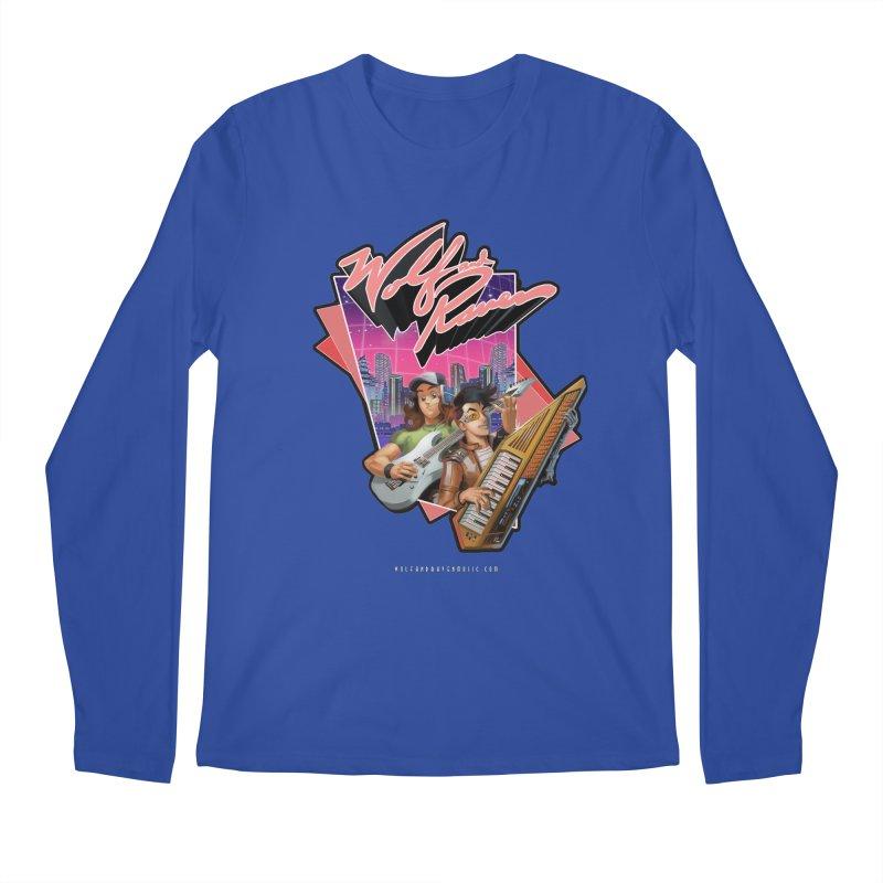 Wolf and Raven 80s Cartoon Men's Regular Longsleeve T-Shirt by Wolf and Raven Artist Shop