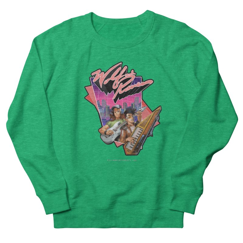 Wolf and Raven 80s Cartoon Women's Sweatshirt by Wolf and Raven Artist Shop