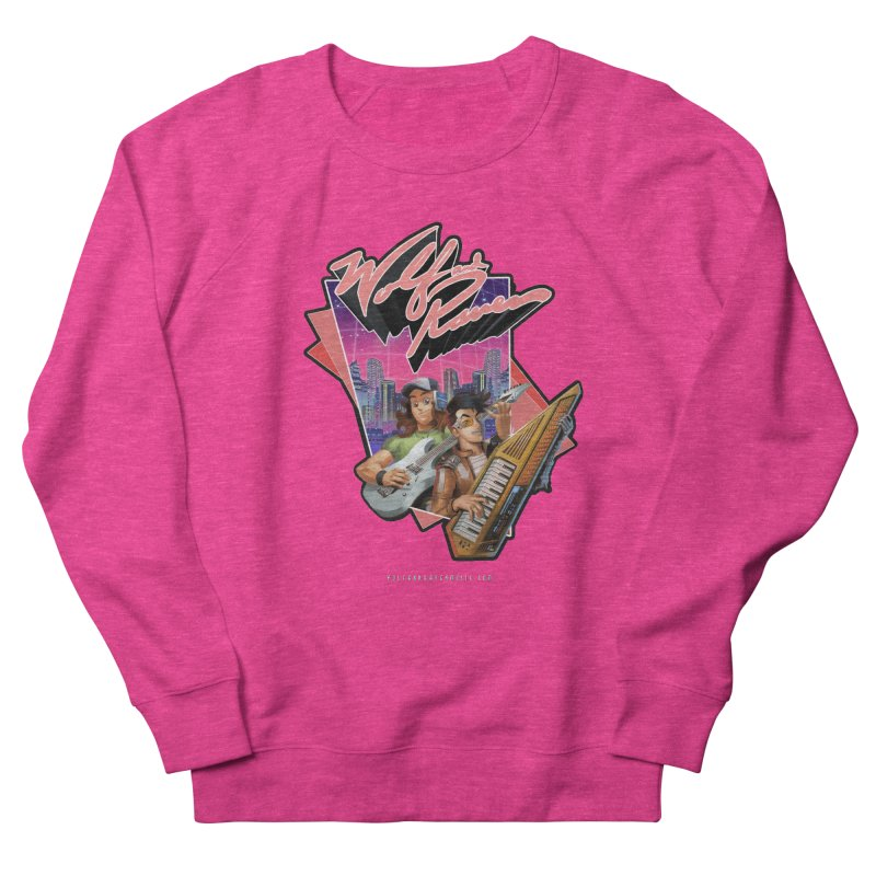 Wolf and Raven 80s Cartoon Men's French Terry Sweatshirt by Wolf and Raven Artist Shop