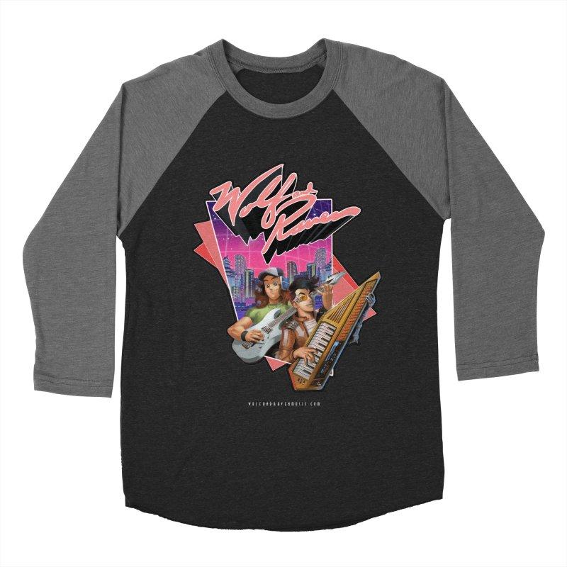 Wolf and Raven 80s Cartoon Women's Baseball Triblend Longsleeve T-Shirt by Wolf and Raven Artist Shop
