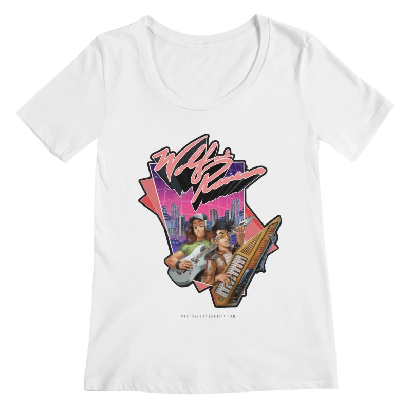 Wolf and Raven 80s Cartoon Women's Regular Scoop Neck by Wolf and Raven Artist Shop