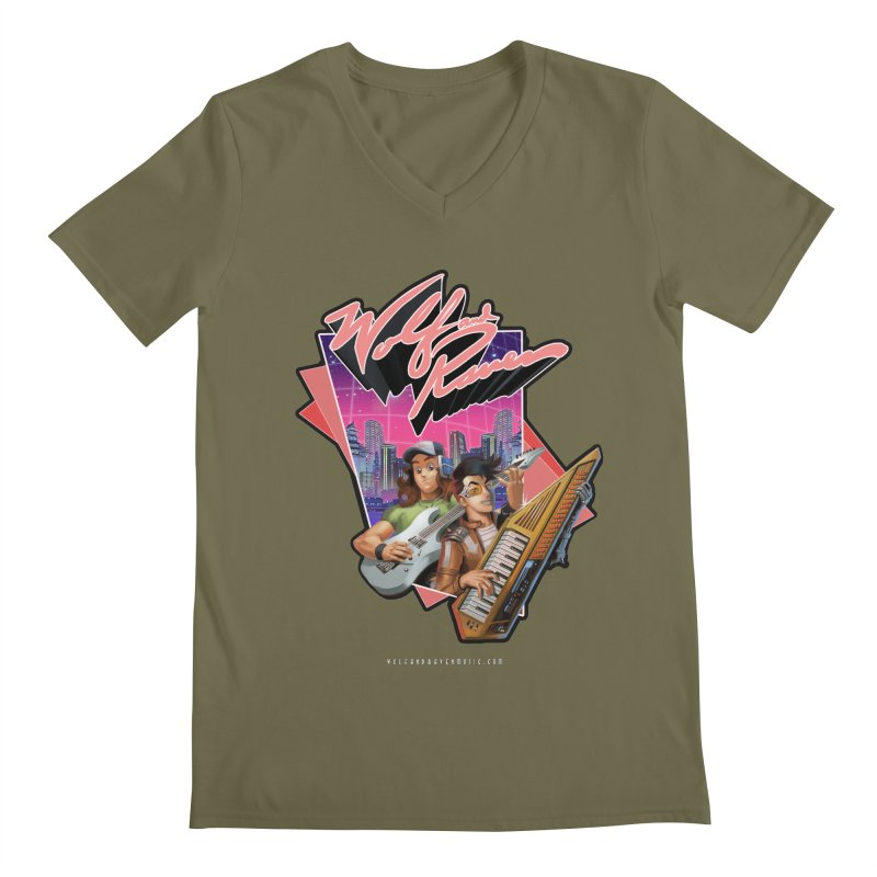 Wolf and Raven 80s Cartoon Men's Regular V-Neck by Wolf and Raven Artist Shop