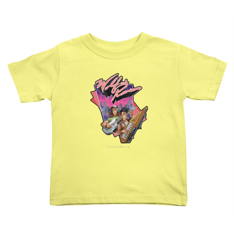 Wolf and Raven 80s Cartoon Kids Toddler T-Shirt by Wolf and Raven Artist Shop