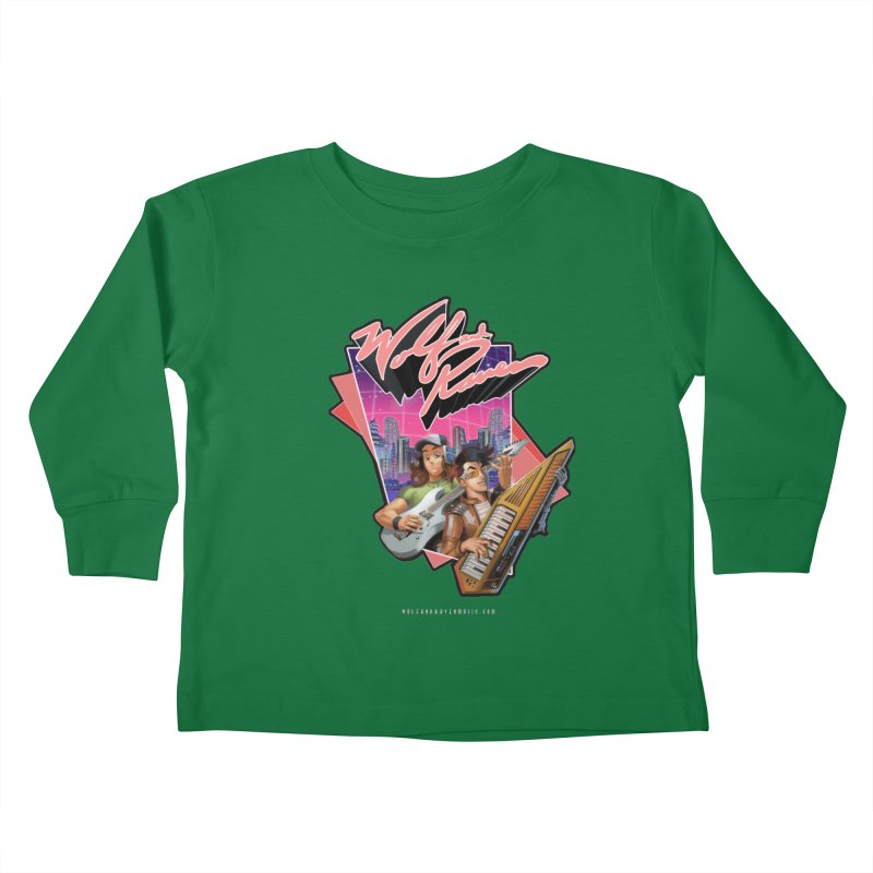 Wolf and Raven 80s Cartoon Kids Toddler Longsleeve T-Shirt by Wolf and Raven Artist Shop