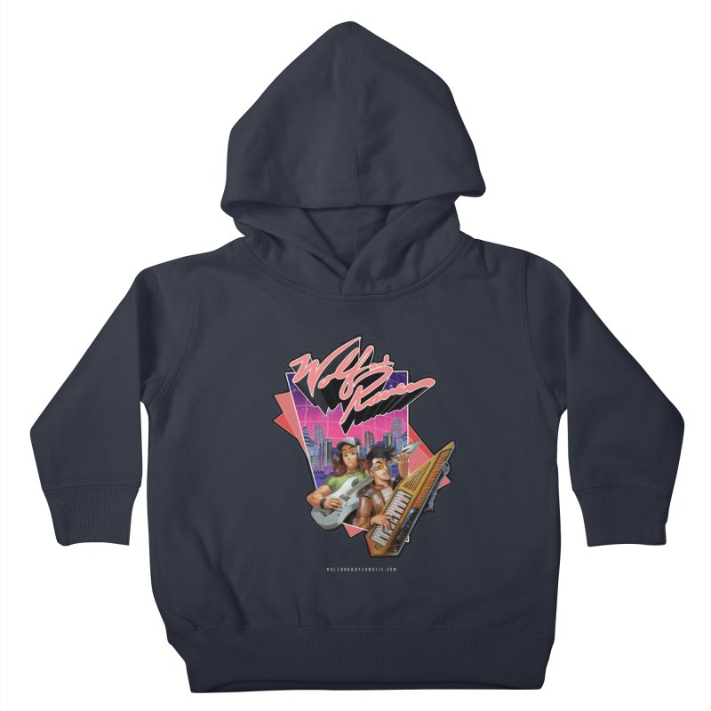 Wolf and Raven 80s Cartoon Kids Toddler Pullover Hoody by Wolf and Raven Artist Shop