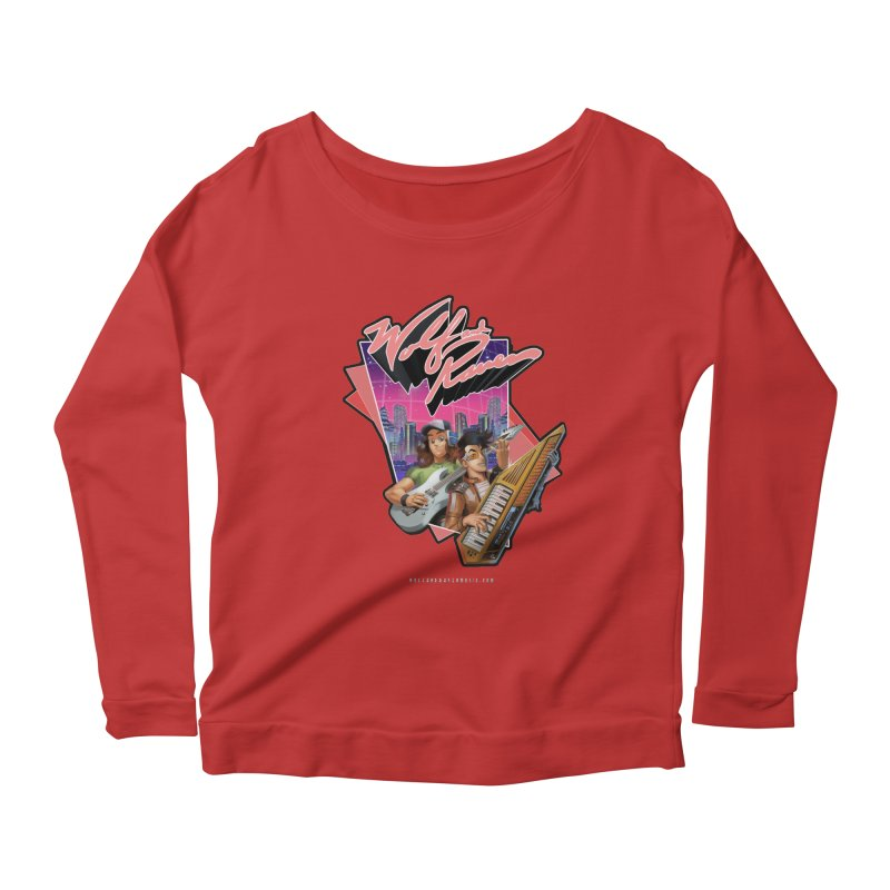 Wolf and Raven 80s Cartoon Women's Scoop Neck Longsleeve T-Shirt by Wolf and Raven Artist Shop