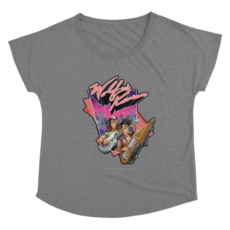 Wolf and Raven 80s Cartoon Women's Scoop Neck by Wolf and Raven Artist Shop
